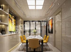 现代风餐厅吊顶装修安例,9款现代风格餐厅装修图
