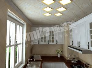 四款风格各异的厨房吊顶装修效果图,顶善美厨房吊顶案例