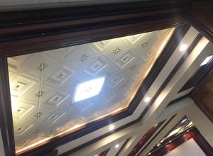 客厅全屋吊顶装修实景图,派格森客厅装修实景图