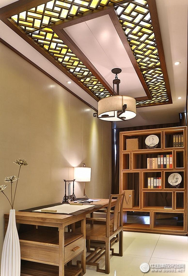鼎美新中式古典风格顶墙装修效果图 新中式古典装修案例