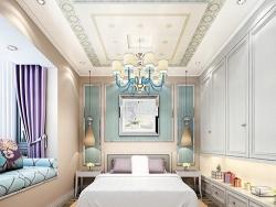 蓝姆特顶墙现代风格卧室