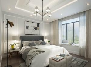 现代简欧风卧室吊顶装修效果图,巴迪斯卧室装修实例