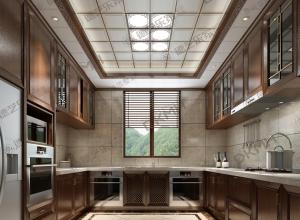 108㎡三居室中式装修效果图,德艺乐家中式风格装修案例图