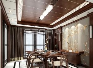 170㎡大平层新中式装修效果图赏析,赛华顶墙新中式风格装修图