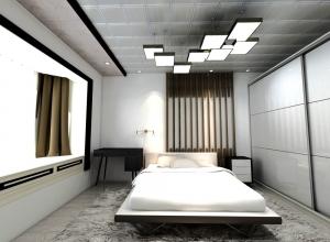 品格高端吊顶卧室集成吊顶装修效果图,品格卧室吊顶装修案例