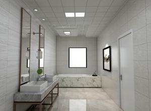 卫生间吊顶现代风装修效果图,品格浴室吊顶装修案例