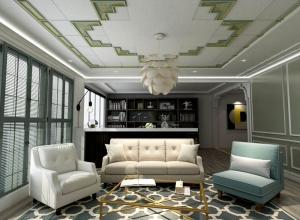 十几款客厅吊顶现代风格装修图,品格客厅吊顶效果图