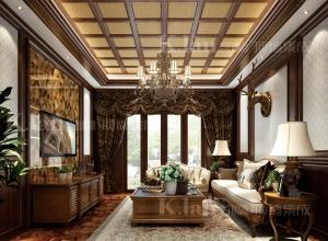 凯兰客厅吊顶装修案例图,客厅吊顶中式效果图