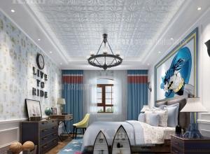 六款不同风格的卧室吊顶装修效果图