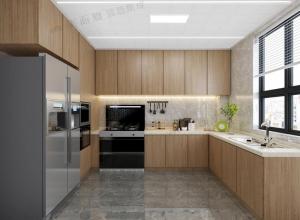 具体现代风格气息的厨房吊顶装修实例图