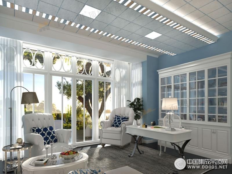美而雅顶墙集成书房和阳台吊顶各风格装修效果图