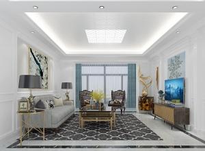 现代风吊顶装修案例,华帝吊顶欧式风格客厅装修图