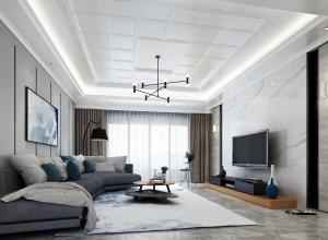 欧式风格客厅吊顶装修效果图,巴迪斯客厅吊顶装修实例 (16)