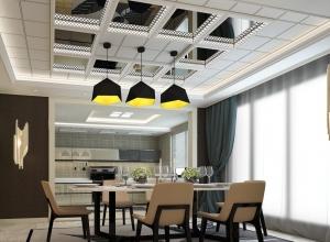 海创餐厨一体吊顶装修效果图,餐厅厨房吊顶装修效果图 (5)