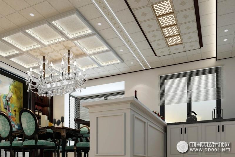 海创餐厨一体吊顶装修效果图,餐厅厨房吊顶装修效果图