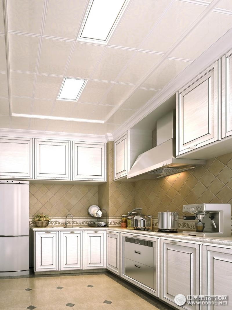 厨房吊顶装修效果图,海创厨房吊顶装修案例