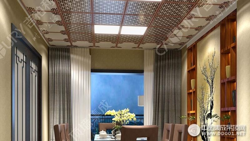 吉柏利顶墙厨房餐厅吊顶装修效果图赏析
