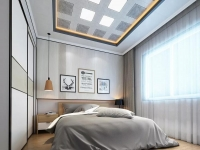 """安装了巨奥生态铝顶墙的卧室,正适合寒冷冬天""""窝被子"""""""