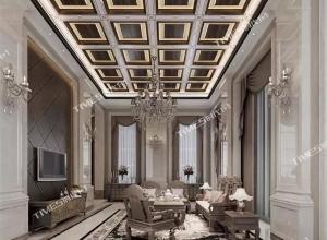 时代全屋吊顶欧式客厅装修案例图,客厅欧式风格效果图