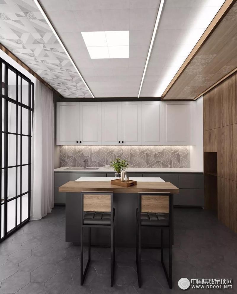 德莱宝全屋定制吊顶现代简约风客厅装修图