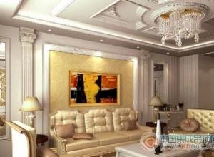 客厅吊顶欧式风格效果图大全
