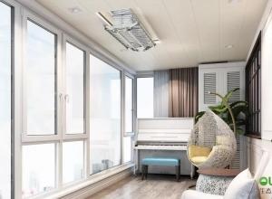 奥华生态顶墙定制家阳台吊顶效果图,阳台晾衣架装修