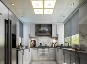 二款现代简约风格吊顶装修图,宝仕龙全景顶厨房吊顶图