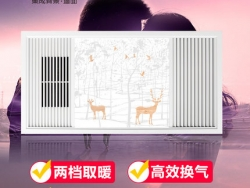 顶上集成吊顶浴霸风暖浴室卫生间多功能嵌入式空调