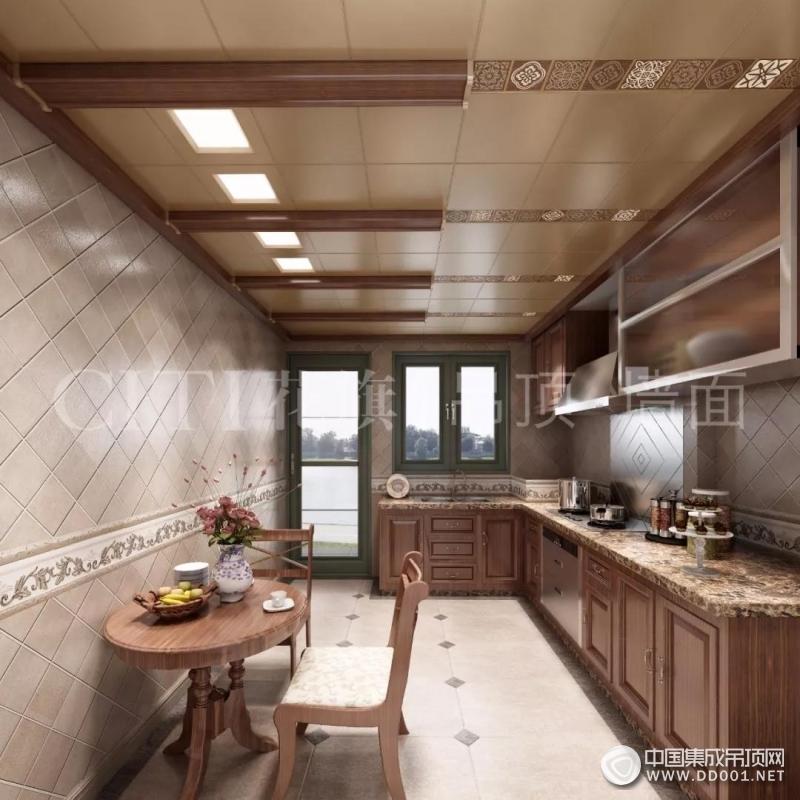 花旗厨房吊顶三种风格效果图,好厨房让家人享受生活