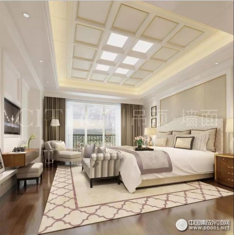 花旗现代简欧卧室装修效果图,让你拥有健康舒适的睡眠