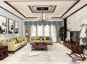 索菲尼洛104.8平方新中式装修图,时尚与古典的完美融合!