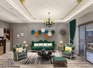 索菲尼洛吊顶墨绿色低调轻奢风装修效果图