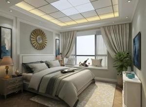 德艺乐家吊顶墙面卧室装修图片,顶墙装修色彩搭配圆满