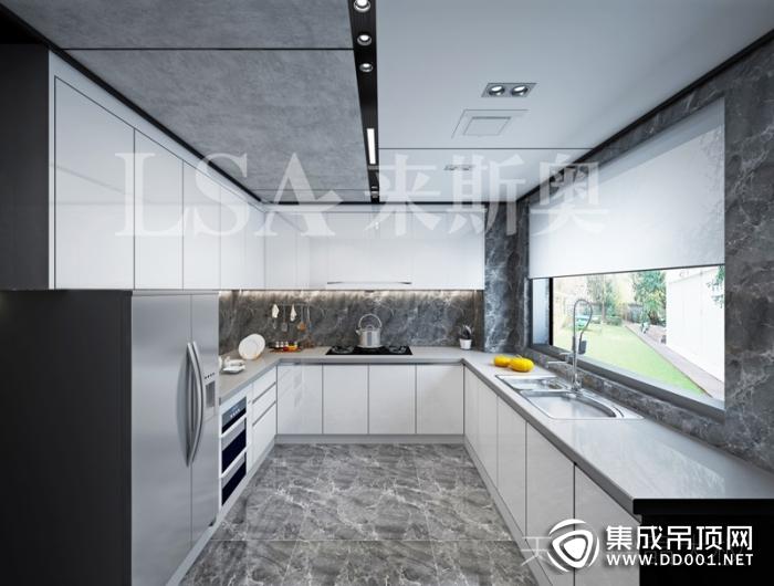 来斯奥吊顶铝晶大板系列厨房装修效果图