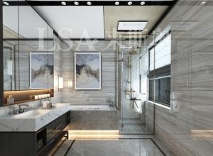 来斯奥卫生间铝晶大板吊顶装修效果图