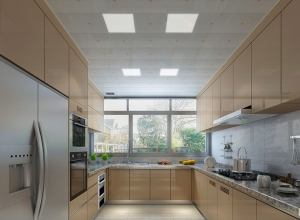 雷士照明厨房吊顶现代风装修效果图