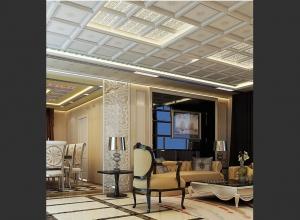 长虹全屋吊顶美式风格客厅装修效果图