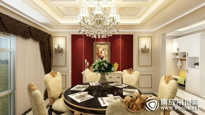 奥华集成吊顶高颜值又实用的餐厅装修效果图