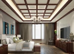 美郝嘉时尚吊顶卧室及阳台新装修效果图