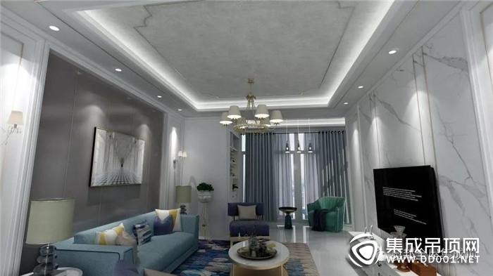 奥邦全屋集成顶将客厅点缀出温馨暖和的空间气色!