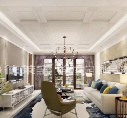 德莱宝全屋定制顶墙极简客厅装修图片,住得更舒服!