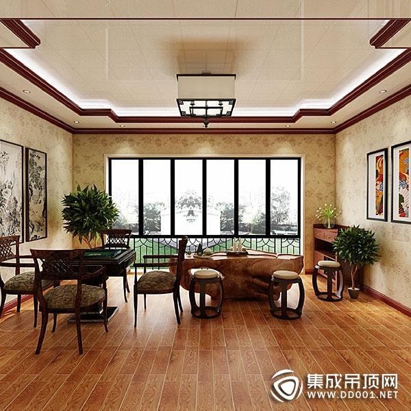 普罗米全房吊顶客厅装修效果图