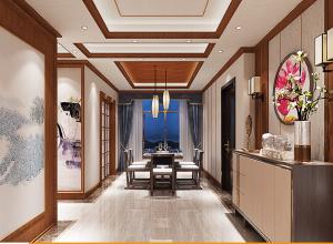 顶上整体定制中式风格装修图,中式客厅效果图