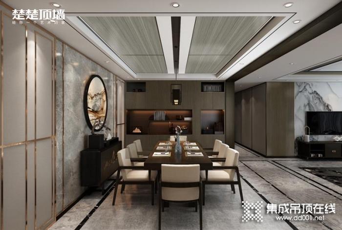 楚楚顶墙全屋中式客厅装修效果图