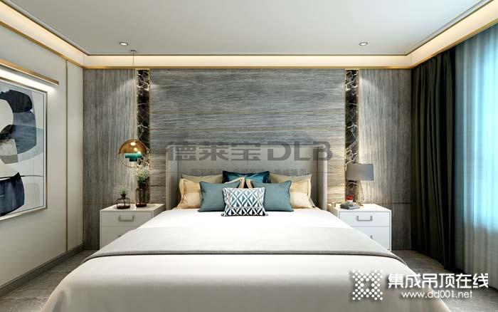 德莱宝无界大板卧室背景墙效果图