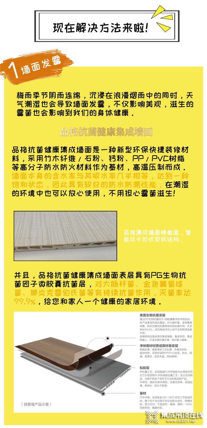 梅雨季节的烦恼,墙面发霉潮湿、衣物晒不干,这些找品格都可以轻松解决