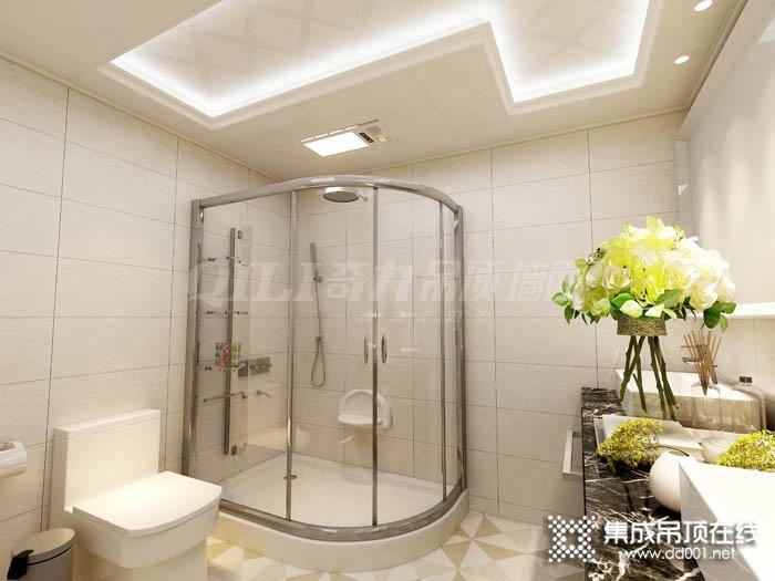 奇力浴室吊顶图片,简约风格浴客大板装修图