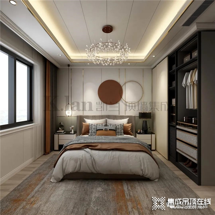 凯兰打造的现代轻奢家装设计,自然舒适,雅致内敛