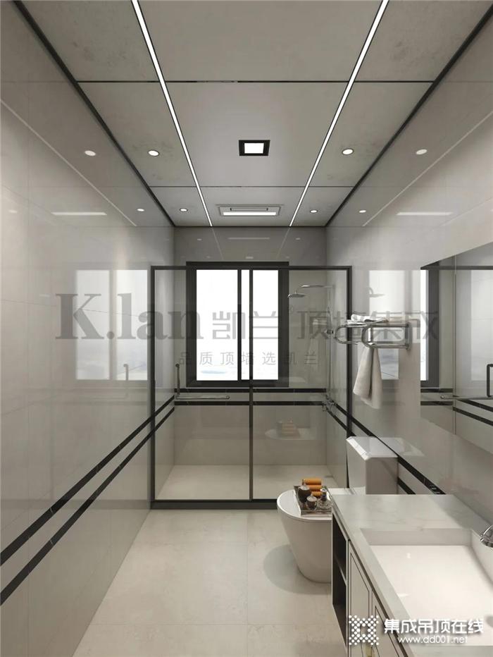 """凯兰铝晶格蜂窝大板顶,打造令你""""浴""""罢不能的卫生间"""