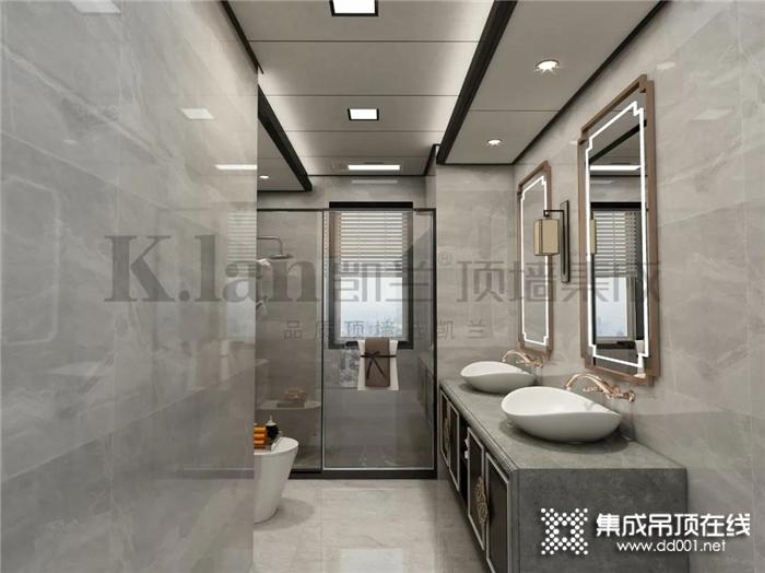 卫生间装修用凯兰集成大板,美观性和实用都有了